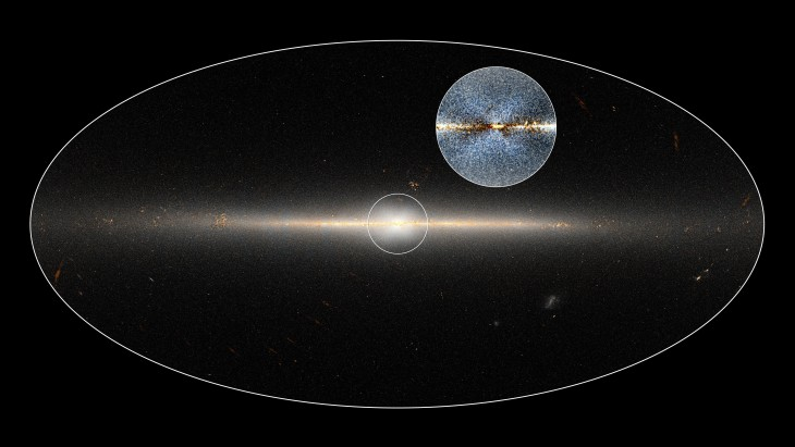 Zdjęcie zgrubienia centralnego Drogi Mlecznej wykonane przez WISE.