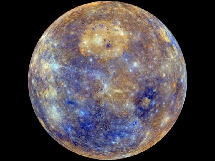 Merkury w fałszywych kolorach.