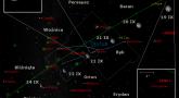 Położenie Księżyca, planety Uran oraz planety karłowatej (1) Ceres w trzecim tygodniu września 2016 r,