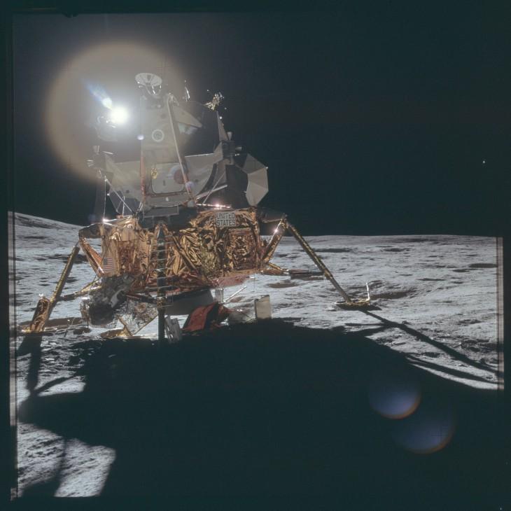 Księżycowy lądownik podczas misji Apollo 14