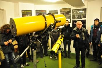 Z wizytą w obserwatorium astronomicznym PTMA. fot. Michał Grendysz