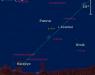 Położenie Jowisza i Księżyca na przełomie listopada i grudnia 2016 r.