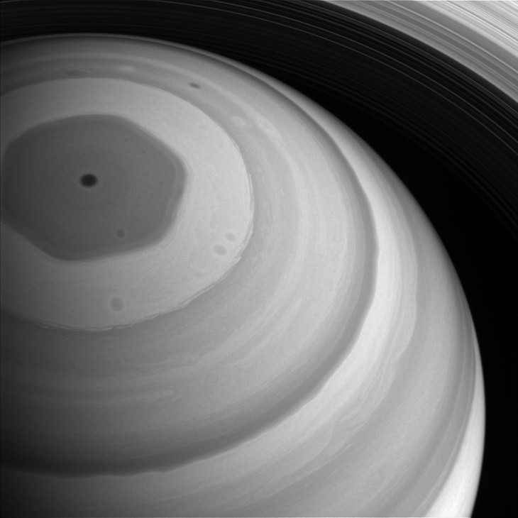 Północny biegun Saturna