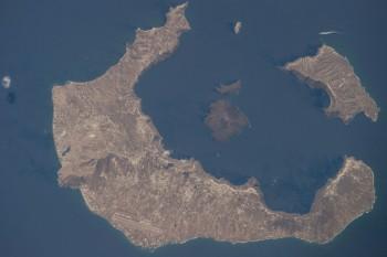 Santorini Caldera wpołudniowo-wschodniej Grecji.