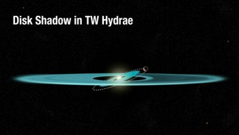 Powstawanie cienia na dysku TW Hydrae.