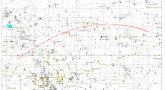 Trajektoria komety 45P/Honda-Mrkos-Pajduszakowa w lutym 2017 roku.
