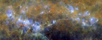 Obszar gwiazdotwórczy oznaczany jako RCW106