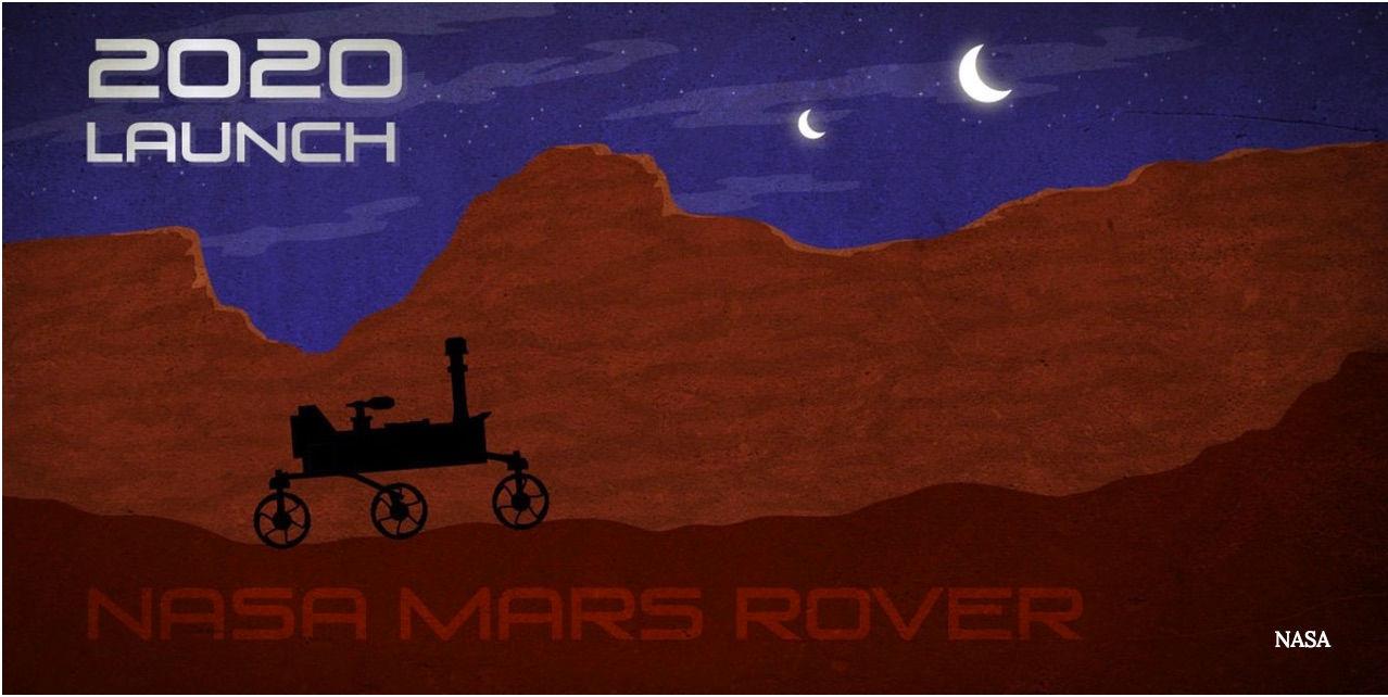 Plakat misji Mars 2020.
