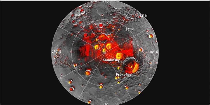 Rozkład wody na Merkurym