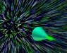 Grafika przedstawiająca fotoniczny stożek Macha.