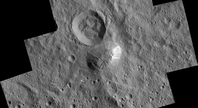 Dziwna góra Ahuna Mons naplanecie karłowatej Ceres może być jednym zwielu lodowych wulkanów wUkładzie Słonecznym.