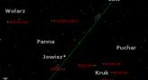 Położenie Jowisza w ostatnim tygodniu marca 2017 r.