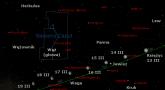 Położenie Księżyca i Jowisza w trzecim tygodniu marca 2017 r.