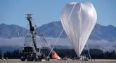 Napompowany i gotowy do wzlotu balon na lotnisku Wanaka, Nowa Zelandia. Balon wystartował 25 kwietnia o 10:50 czasu lokalnego.