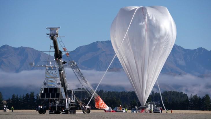 Balon NASA wielkości boiska do futbolu wystartował z Nowej Zelandii
