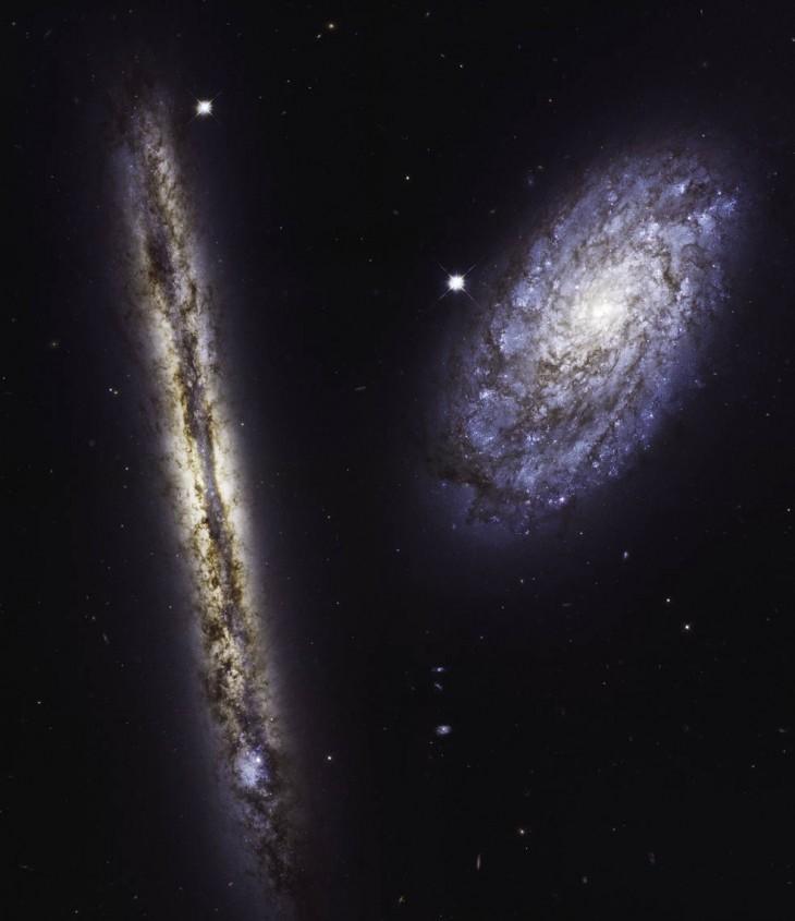 Urodzinowe zdjęcie Teleskopu Hubble`a - galaktyki spiralne