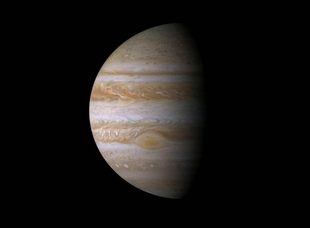 Zdjęcie Jowisza wykonane przezsondę Cassini