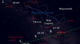 Położenie Księżyca i Saturna w trzecim tygodniu kwietnia 2017 r.