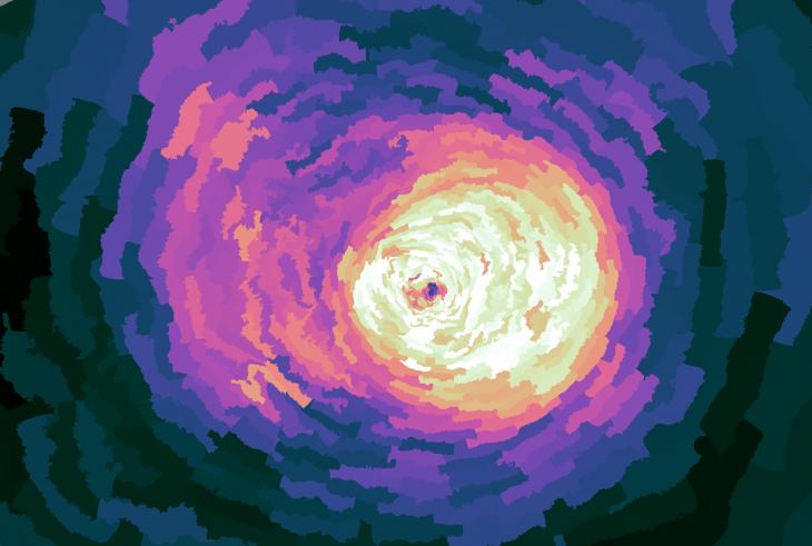 Jasny kolor symbolizuje dużą ilość pierwiastków ciężkich, a ciemne regiony zawierają ich zdecydowanie mniej.