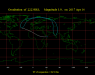 Obszar widoczności zakrycia gwiazdy γ Lib przez Księżyc 14 kwietnia 2017 r.