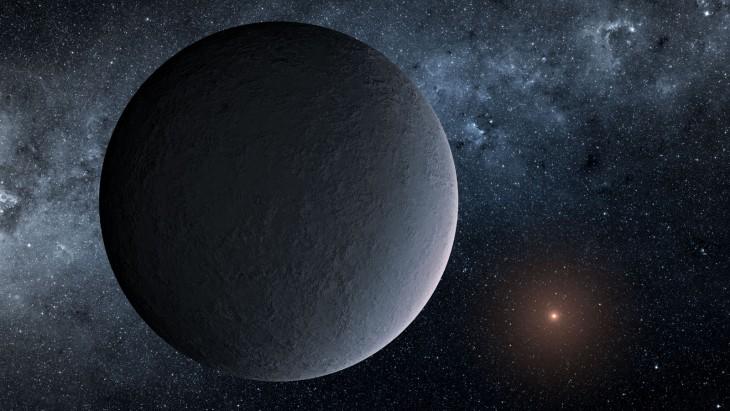 Artystyczna wizja planety OGLE-2016-BLG-1195Lb