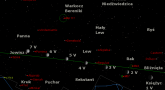 Położenie Księżyca i Jowisza w pierwszym tygodniu maja 2017 r.
