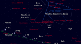 Położenie Księżyca, Jowisza i Komety Johnsona (C/2015 V2) na przełomie maja i czerwca 2017 r.
