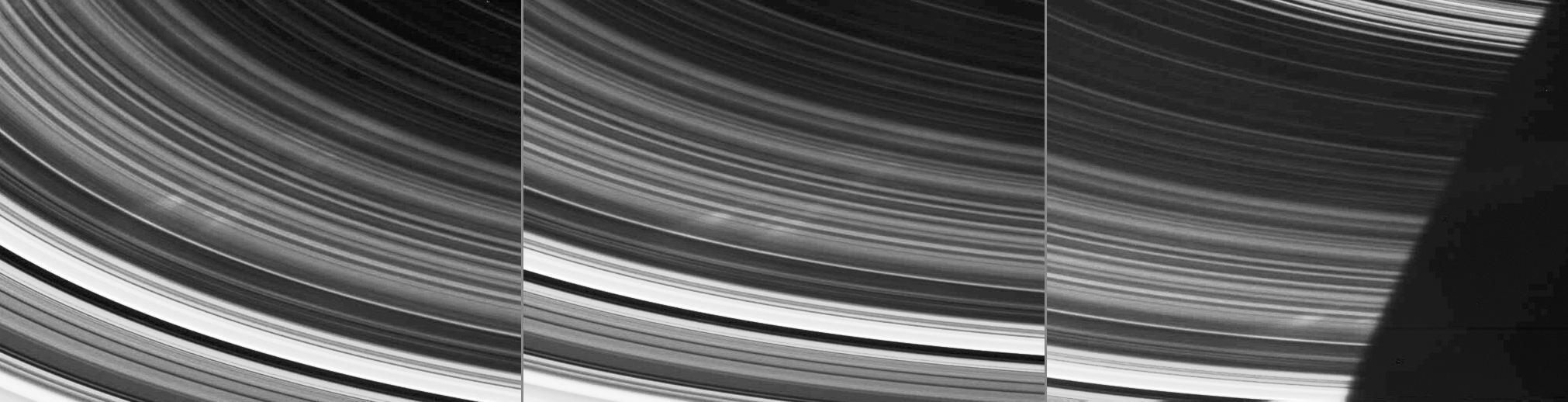 Pierścienie Saturna - nietypowe struktury