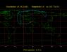 Obszar widoczności zakrycia gwiazdy χ Aquarii przez Księżyc 14 lipca 2017 r.