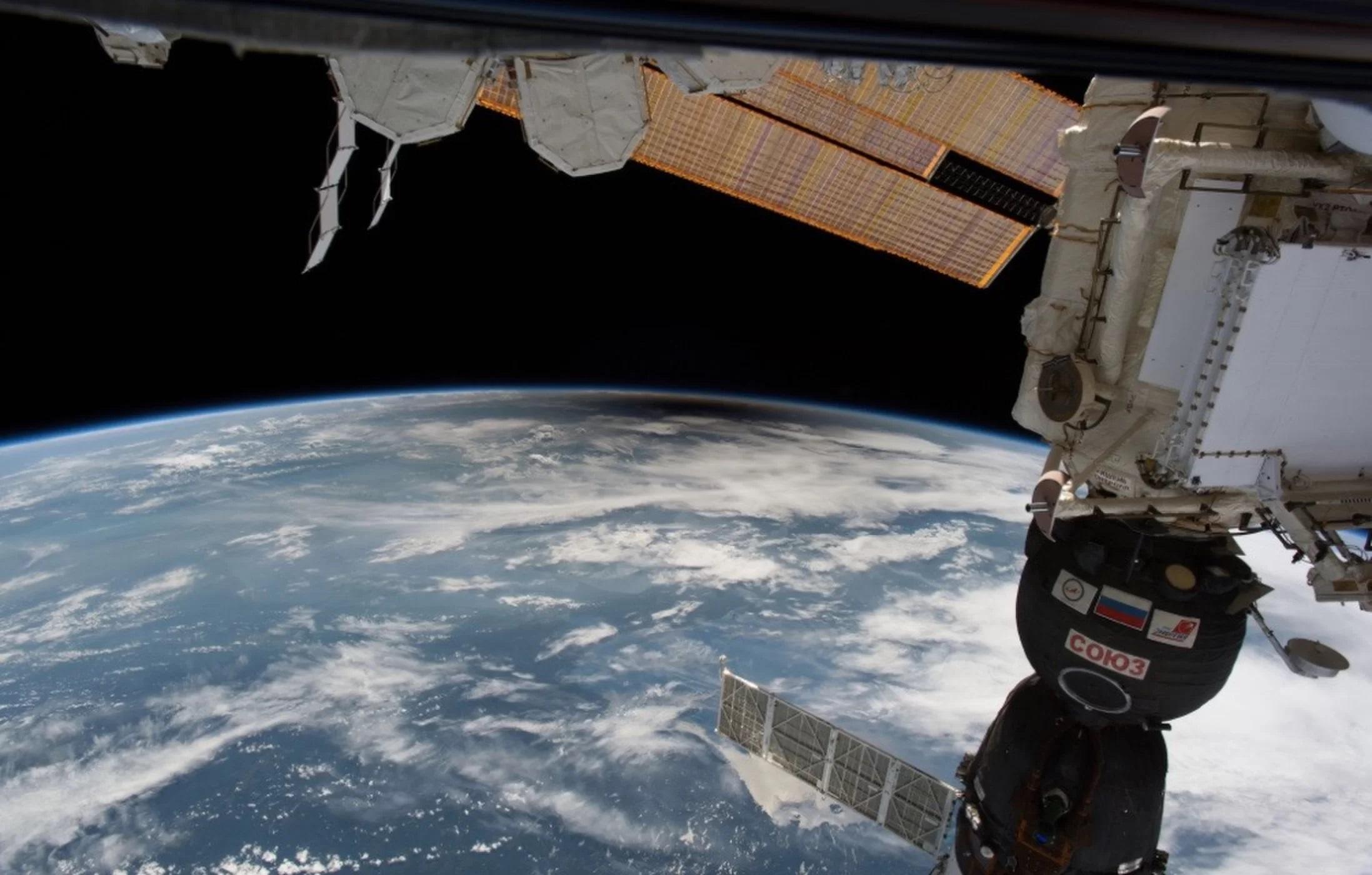 Kolejny obraz zaćmienia widocznego z ISS.