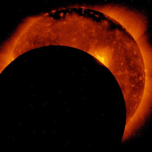 5 minut od początku zaćmienia JAXA/NASA