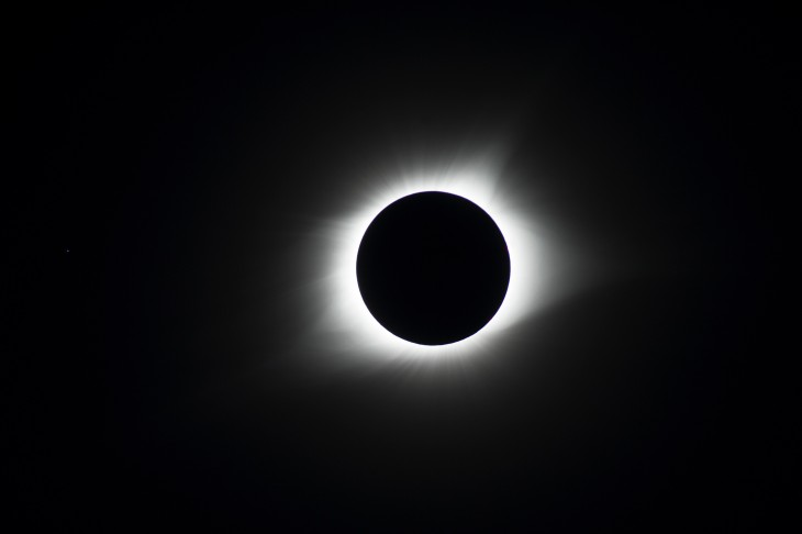 Zaćmienie podczas maksymalnej fazy nadHopkinsville, Kentucky 21.08.2017r.