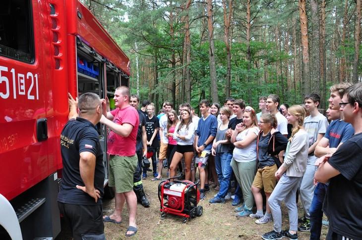Wóz strażacki cieszył się dużym zainteresowaniem