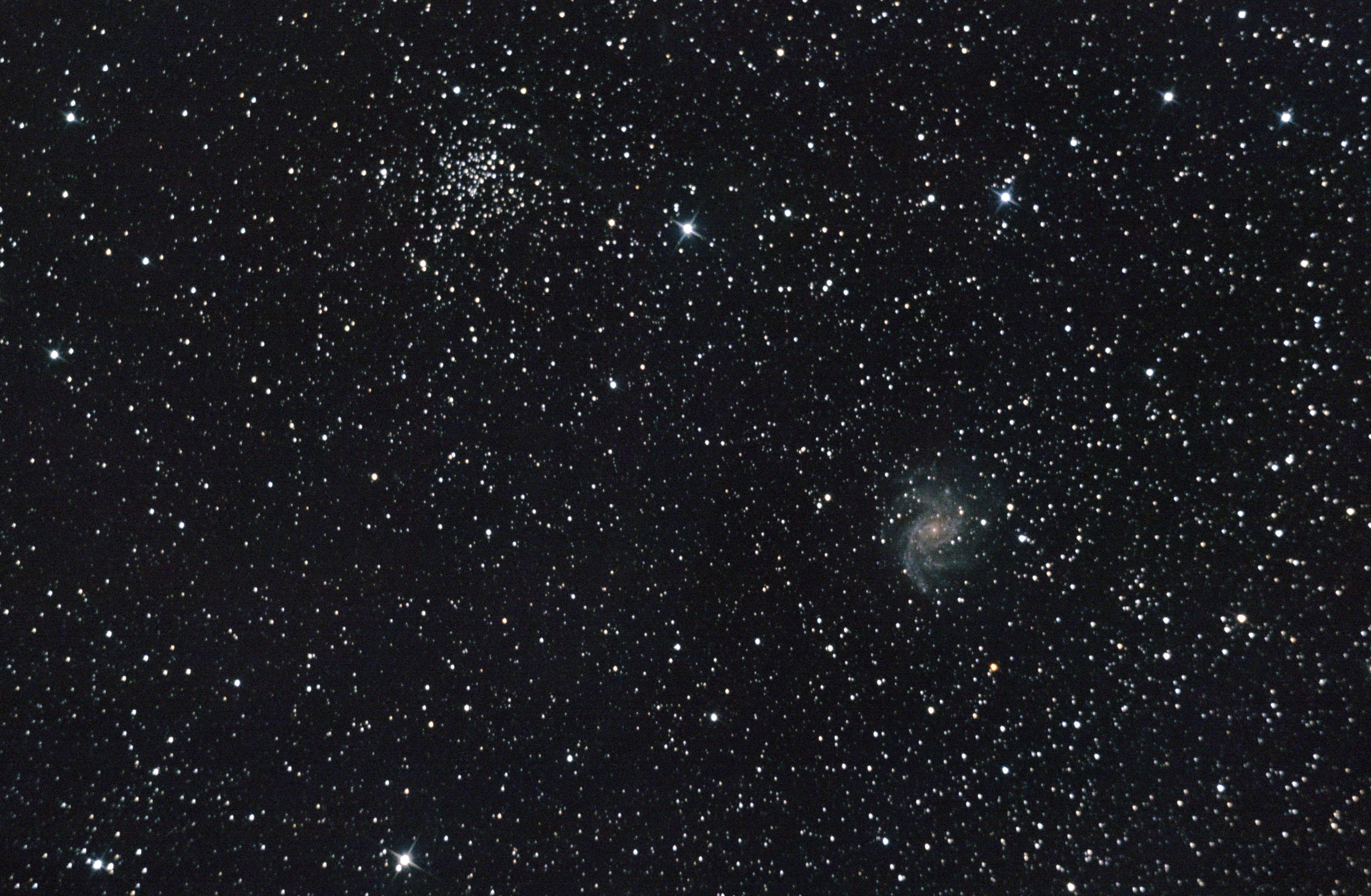 NGC 6946, Galaktyka Fajerwerk. Zdjęcie wykonane przez członka Klubu Astronomicznego Almukantarat.