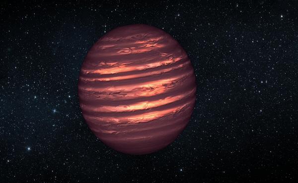 Wizja gwiazdy EBLM J0555-57Ab według artysty.