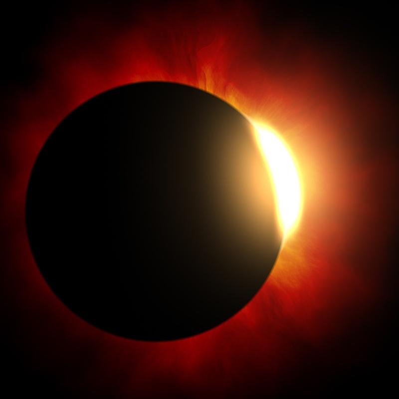 Wizja zaćmienia Słońca według artysty