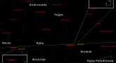 Położenie planet Uran i Neptun oraz gwiazdy zmiennej R And na przełomie sierpnia i września 2017 r.