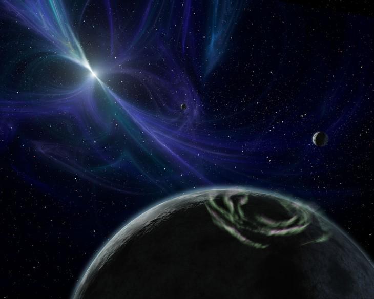 Planety pulsara PSR 1257+12 (wizja artysty)