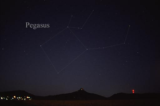 Fotografia Pegaza z widocznym Kwadratem Jesiennym