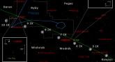 Położenie Księżyca, planet Neptuna i Urana w końcu pierwszej dekady września 2017 r.