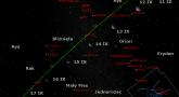 Położenie Księżyca i planety Wenus na początku drugiej dekady września 2017 r.