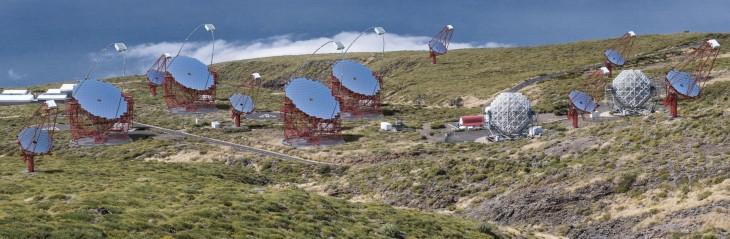 Sieć teleskopów CTA obserwująca północną część nieba