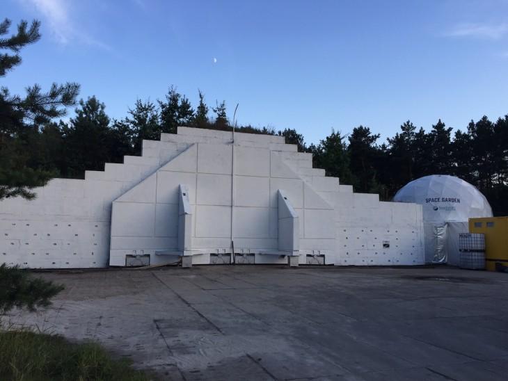 Habitat Lunares – hangar i część mieszkalno-laboratoryjna