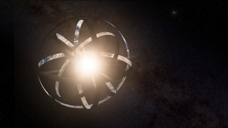 Artystyczna wizja przedstawiająca sferę Dysona.