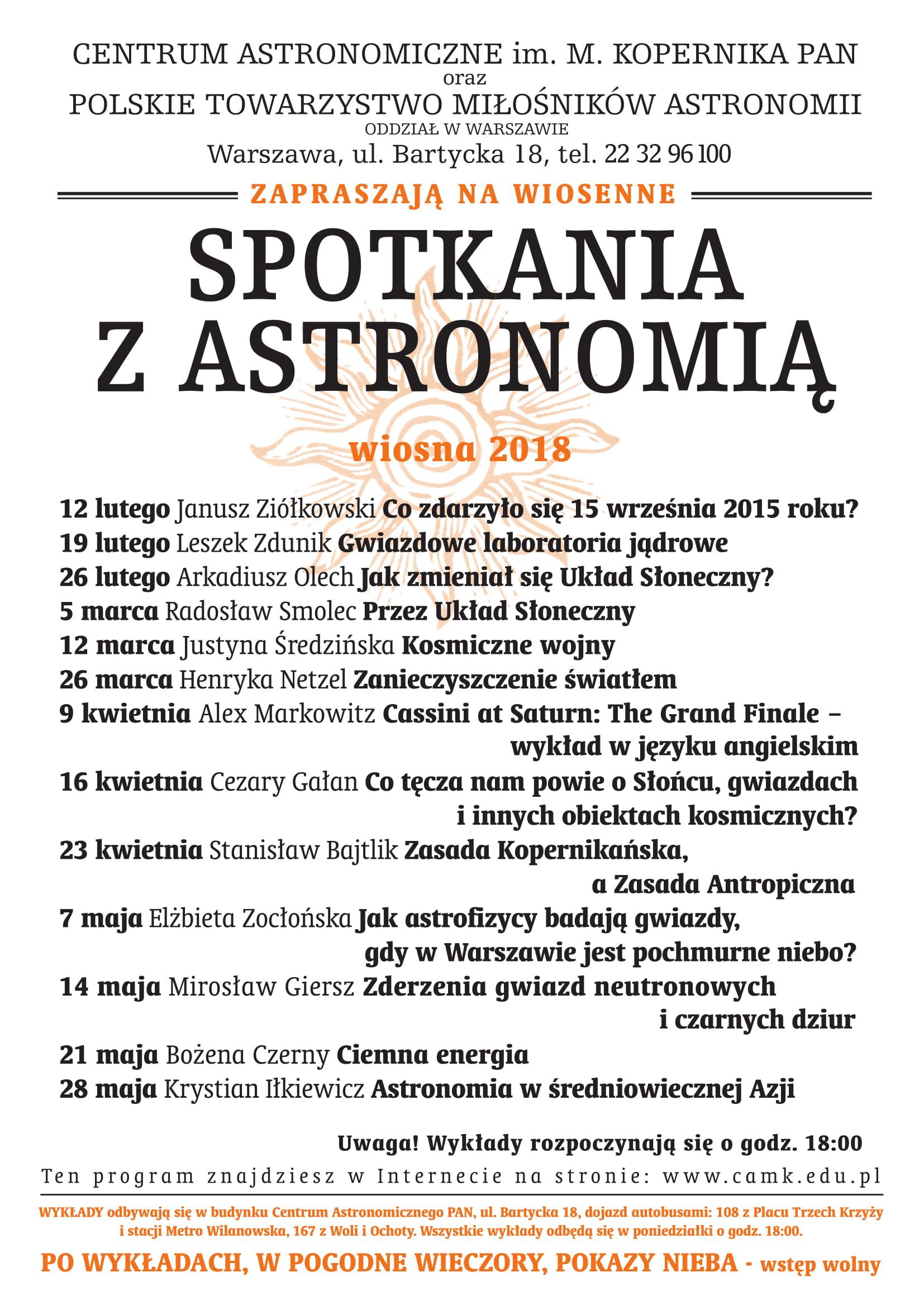 Spotkanie z Astronomią @ Warszawa | mazowieckie | Polska