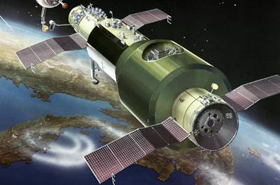 Pierwsza stacja kosmiczna na orbicie