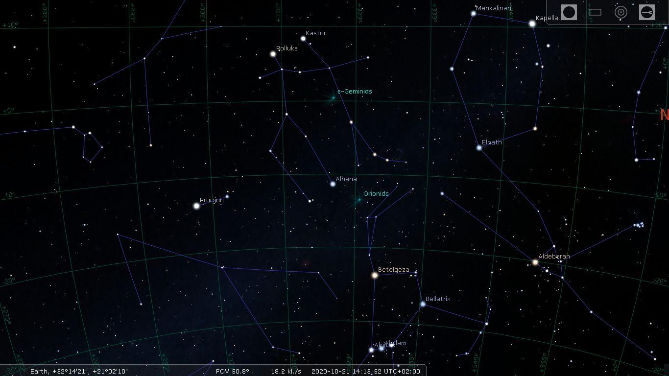 Maksimum aktywności roju Orionidów