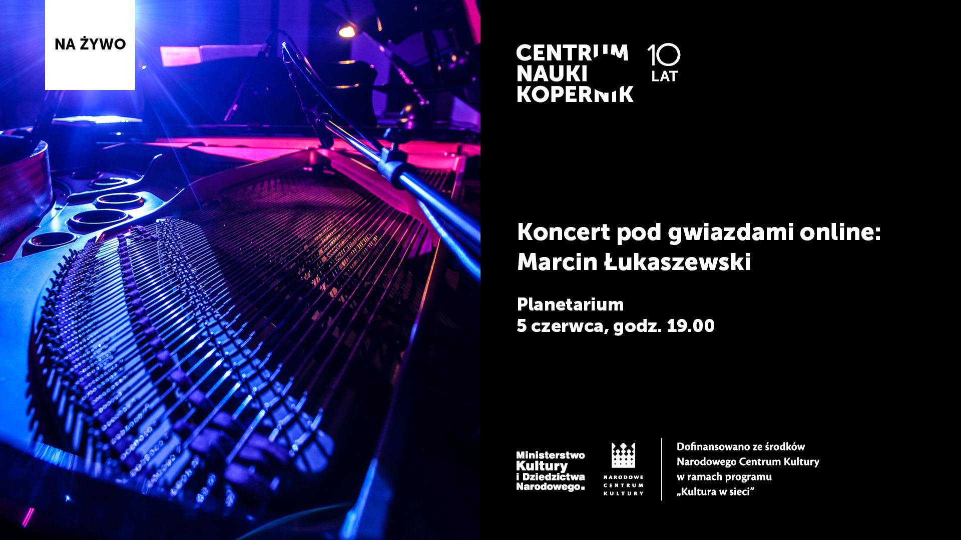 Koncert podgwiazdami online: Marcin Łukaszewski @ Online