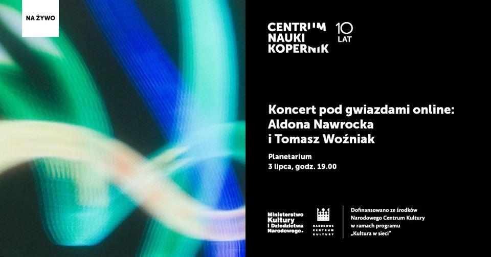 Koncert pod gwiazdami online: Aldona Nawrocka i Tomasz Woźniak @ Online