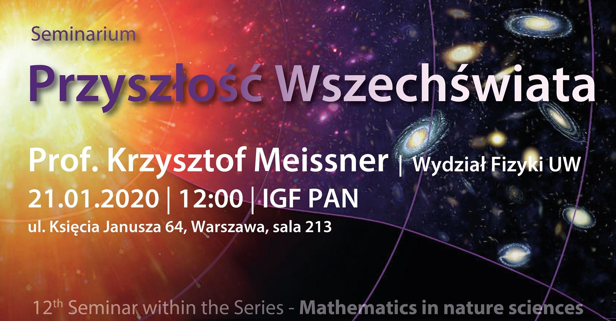 Przyszłość Wszechświata: Matematyka w naukach przyrodniczych @ Księcia Janusza 64